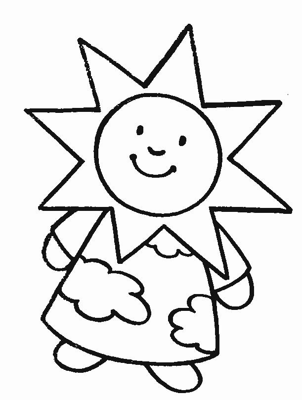 Coloriage et dessins gratuits Soleil Fille à imprimer