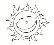 Coloriage Soleil heureux