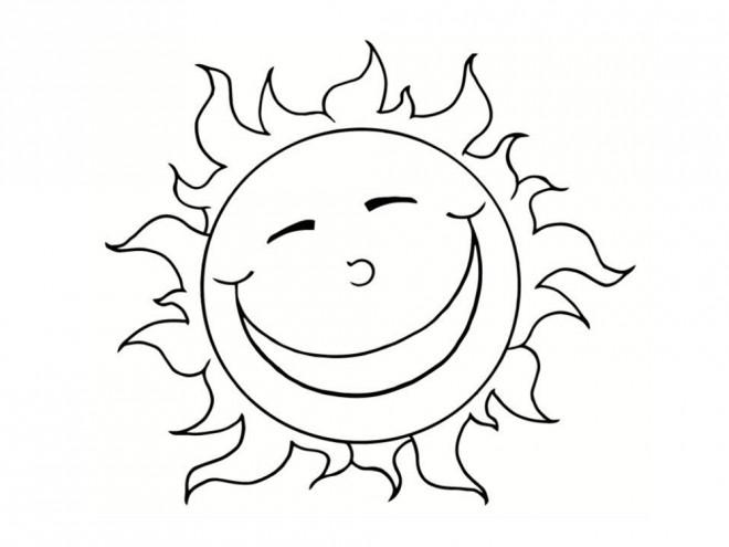 Dibujos Del Sol Para Colorear E Imprimir: Coloriage Soleil Heureux Dessin Gratuit à Imprimer