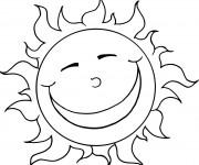 Coloriage et dessins gratuit Soleil humour à imprimer