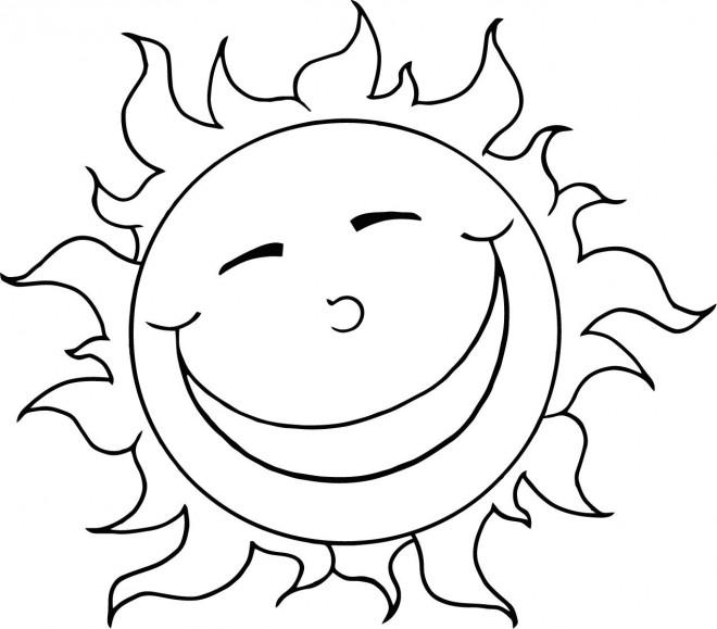Coloriage soleil humour dessin gratuit imprimer - Dessin de soleil a imprimer ...