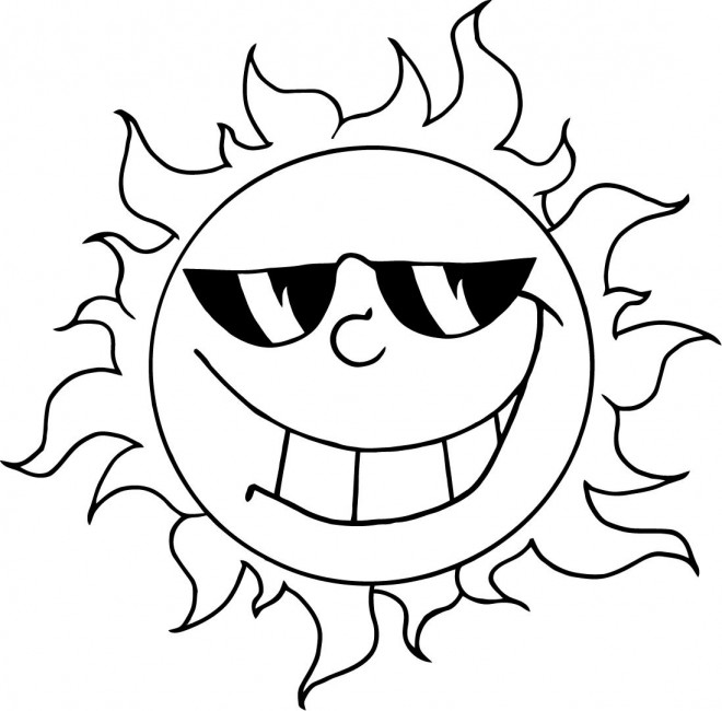 Coloriage et dessins gratuits Soleil joyeux à imprimer