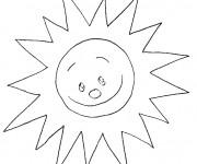 Coloriage Soleil maternelle