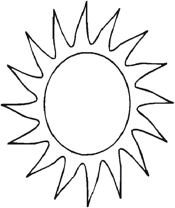 Coloriage et dessins gratuits Soleil maternelle pour enfant à imprimer