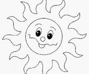 Coloriage Soleil mignon