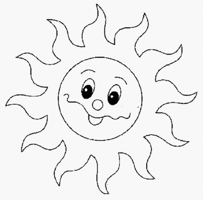 Coloriage et dessins gratuits Soleil mignon à imprimer