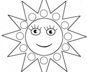 Coloriage Soleil pour enfant