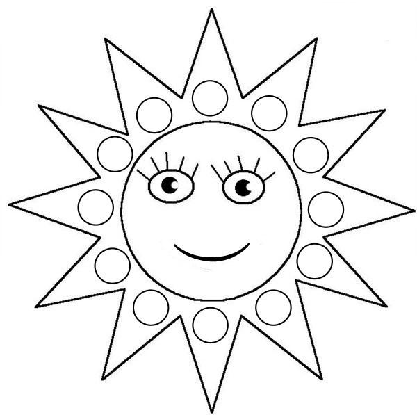 Coloriage soleil pour enfant dessin gratuit imprimer - Dessin de soleil a imprimer ...