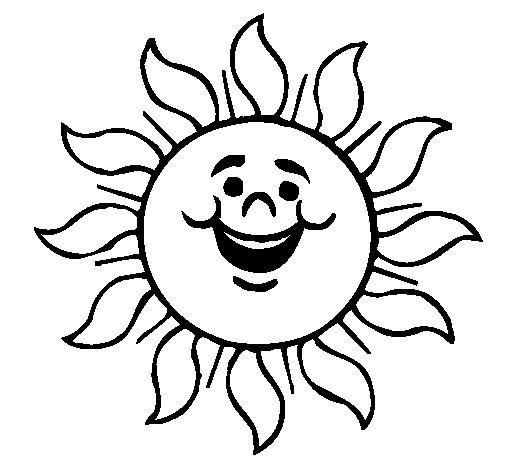 Coloriage et dessins gratuits Soleil qui rigole à imprimer