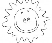Coloriage Soleil rigolo