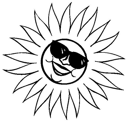 Coloriage et dessins gratuits Soleil s'amuse bien à imprimer