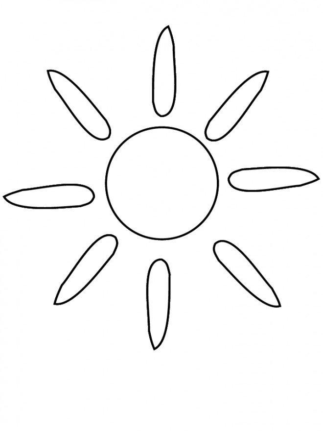 Coloriage et dessins gratuits Soleil Silhouette à imprimer