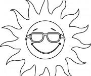 Coloriage Soleil te regarde