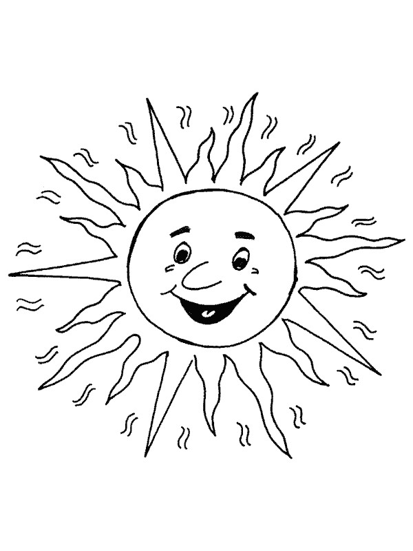 Coloriage et dessins gratuits Soleil tout en souriant à imprimer