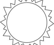 Coloriage Soleil vue de terre
