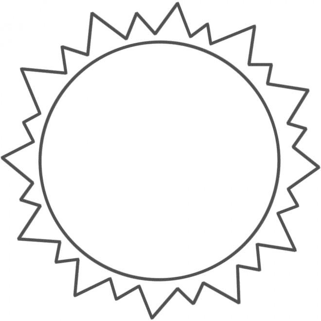 Coloriage et dessins gratuits Soleil vue de terre à imprimer