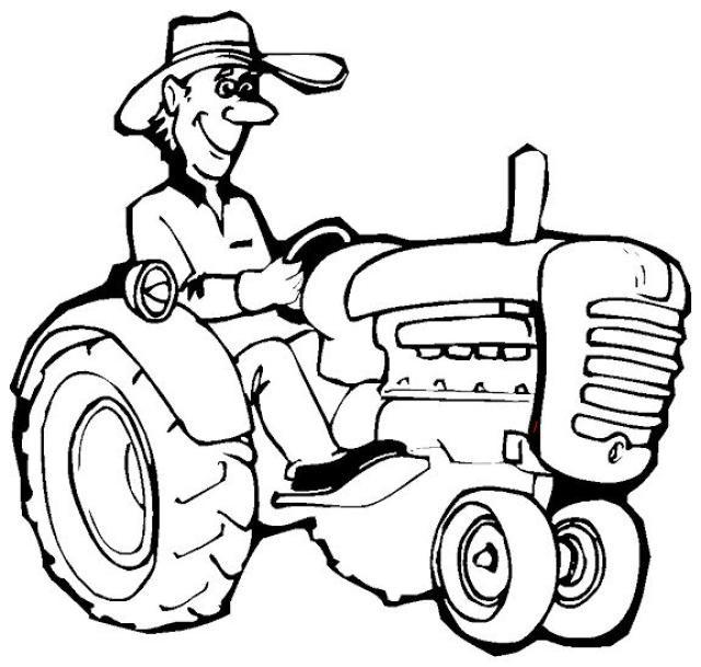 Coloriage et dessins gratuits Tracteur à imprimer