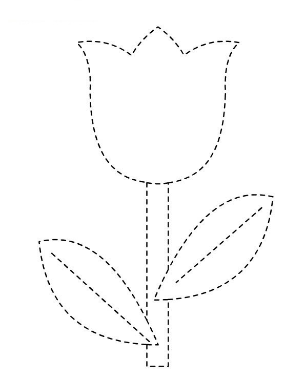 Coloriage Decoupage De Tulipe Sur Ordinateur