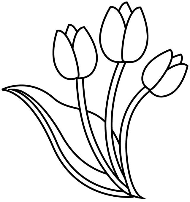 Coloriage et dessins gratuits Tulipe à découper à imprimer