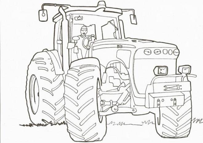 Coloriage un tracteur en ligne dessin gratuit imprimer - Coloriage tracteur en ligne ...