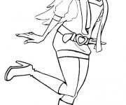 Coloriage Ange Barbie dessin animé