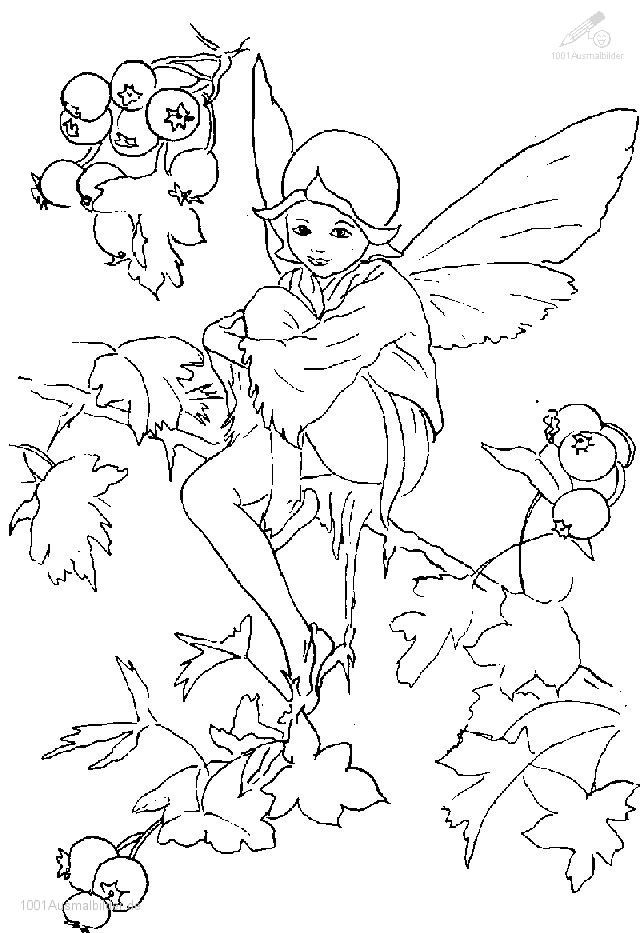 Coloriage et dessins gratuits Ange dans la nature à imprimer