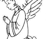 Coloriage et dessins gratuit Ange de noel à imprimer
