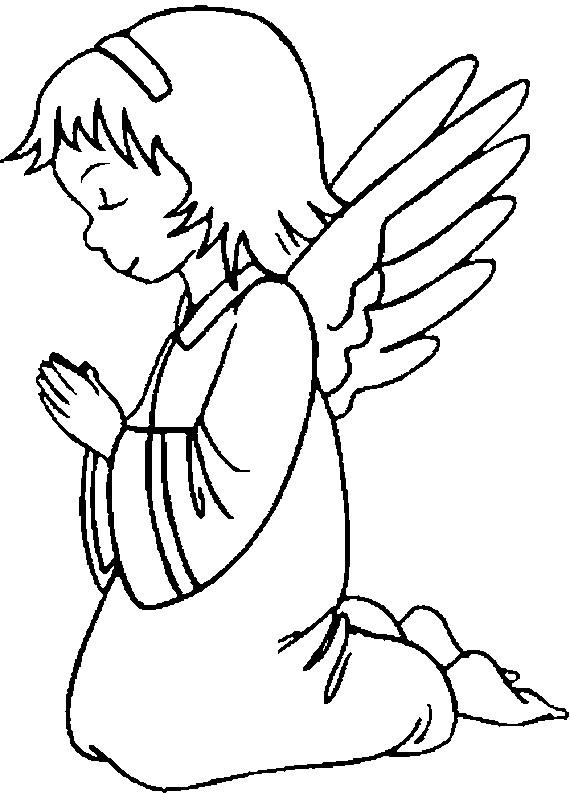 Coloriage et dessins gratuits Ange de noel à imprimer