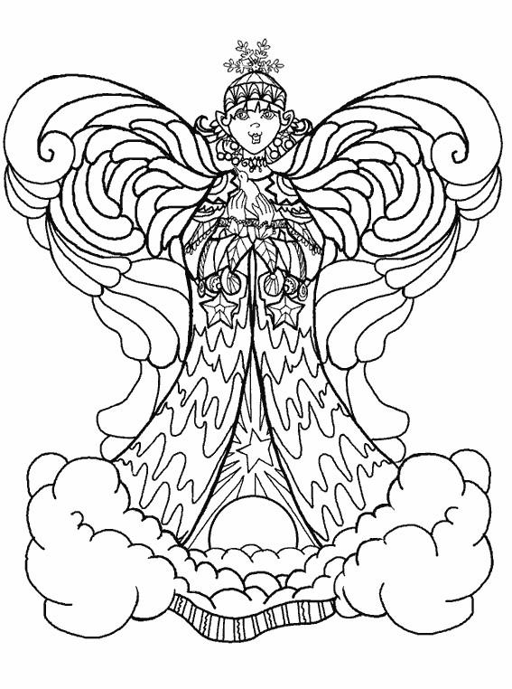 Coloriage ange dessin noir et blanc dessin gratuit imprimer - Dessin ange noir et blanc ...