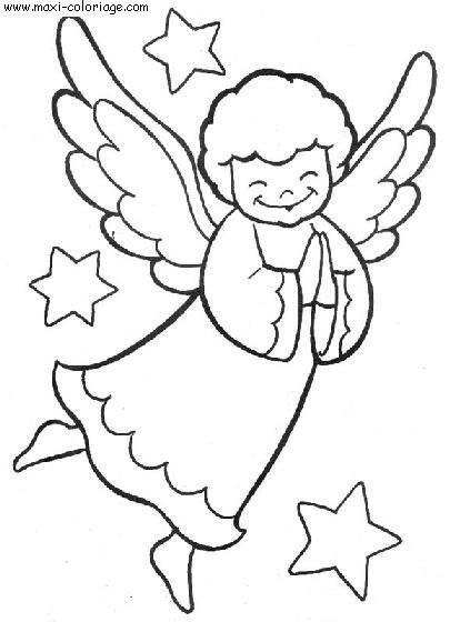 Coloriage et dessins gratuits Ange dessin simple à imprimer