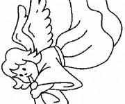 Coloriage et dessins gratuit Ange en couleur à imprimer