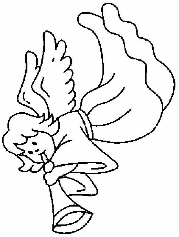 Coloriage et dessins gratuits Ange en couleur à imprimer
