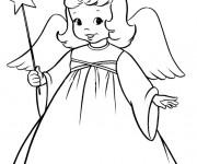 Coloriage et dessins gratuit Ange en ligne à imprimer
