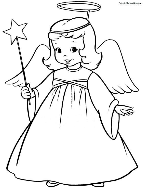 Coloriage et dessins gratuits Ange en ligne à imprimer