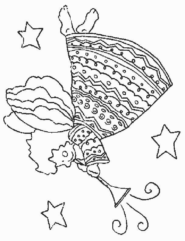 Coloriage et dessins gratuits Ange en robe à imprimer