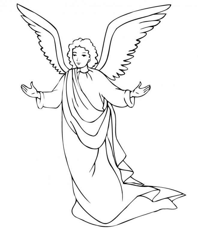 Coloriage et dessins gratuits Ange gardien à imprimer