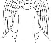Coloriage Ange gardien à télécharger