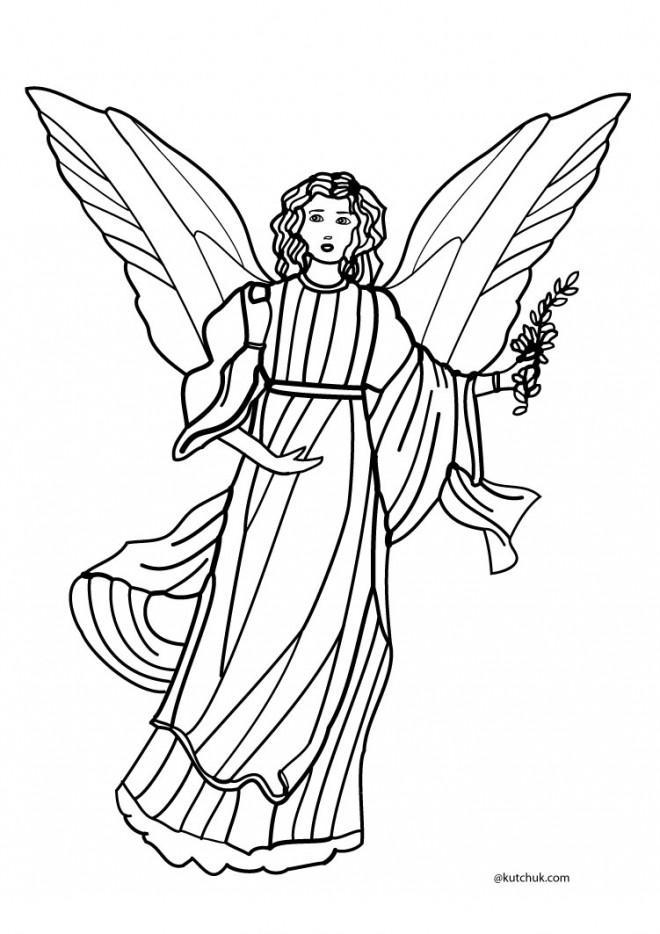 Coloriage ange gardien dessin colorier dessin gratuit - Dessin d ange gardien ...