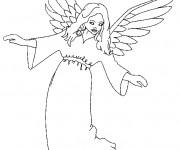 Coloriage Ange gardien protecteur