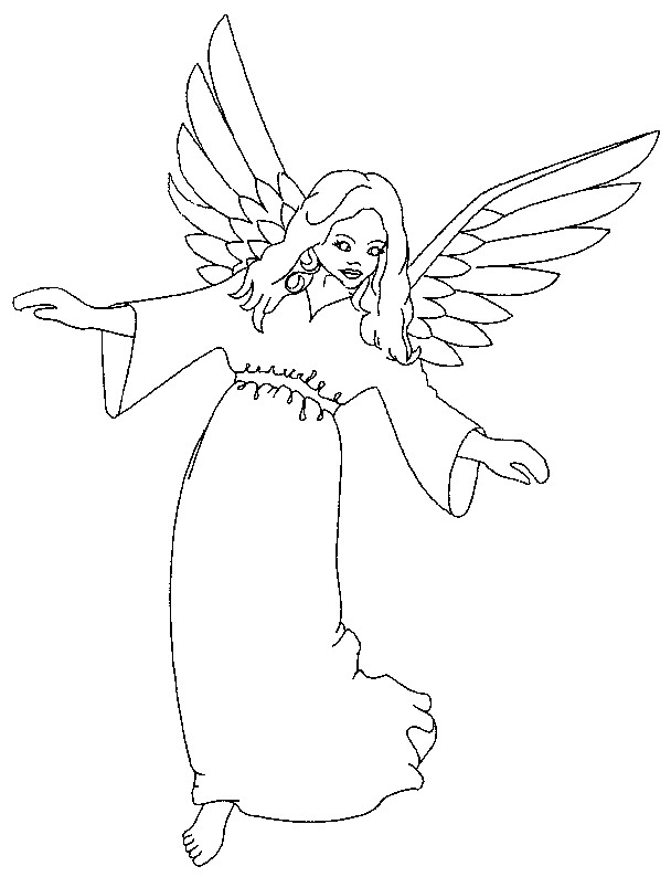 Coloriage ange gardien protecteur dessin gratuit imprimer - Dessin d ange gardien ...
