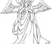 Coloriage et dessins gratuit Ange porte une bougie à imprimer