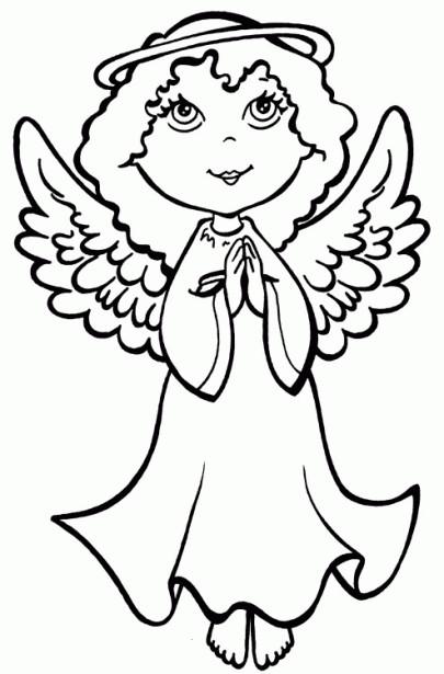 Coloriage et dessins gratuits Ange prières à imprimer