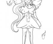 Coloriage Ange princesse