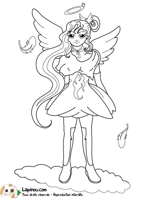 Coloriage et dessins gratuits Ange princesse à imprimer