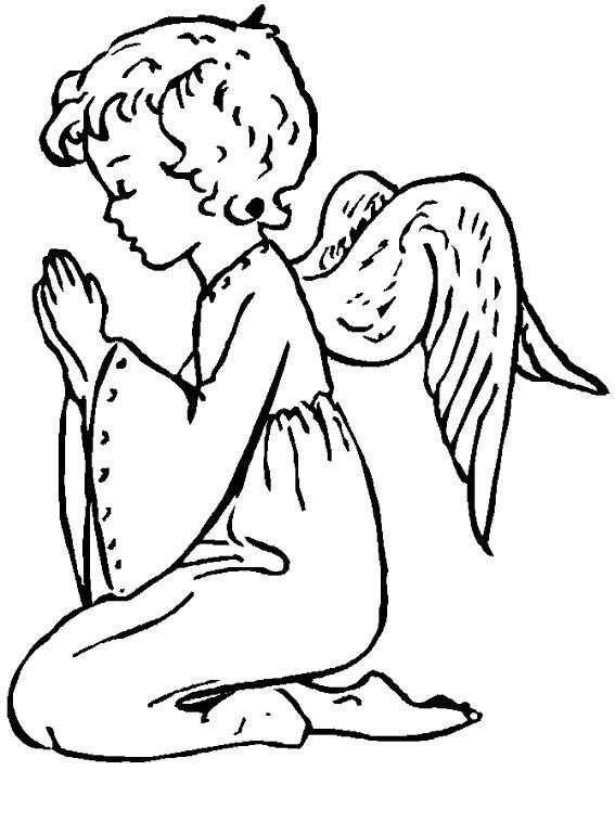 Coloriage et dessins gratuits Anges  dessin magnifique à imprimer