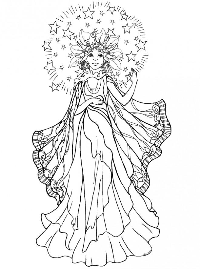 Coloriage et dessins gratuits Anges et Fées à imprimer