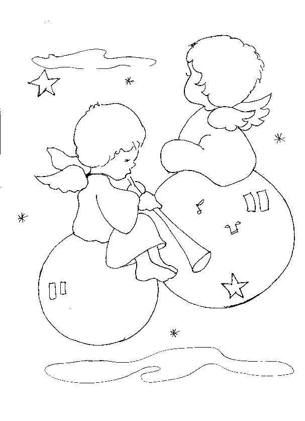 Coloriage et dessins gratuits Bébés Anges à imprimer