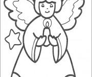Coloriage Bougie de l'ange