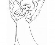 Coloriage et dessins gratuit Dessin  d'ange gratuitement à imprimer