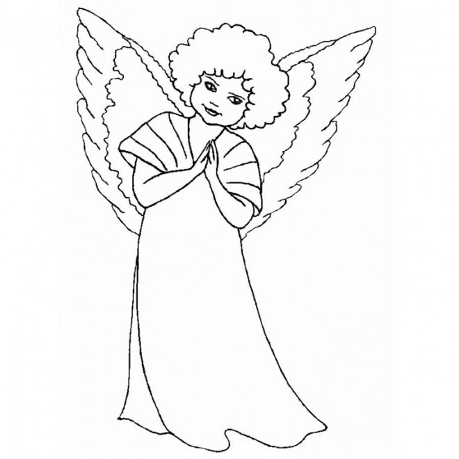 Coloriage dessin d 39 ange gratuitement dessin gratuit imprimer for Angeli da stampare e colorare